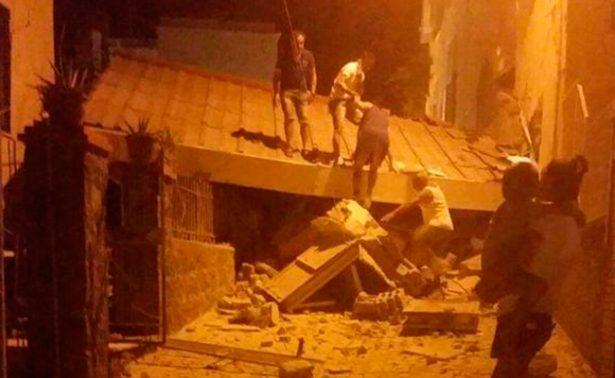 Colapsan construcciones tras sismo en isla de Italia; al menos 25 heridos