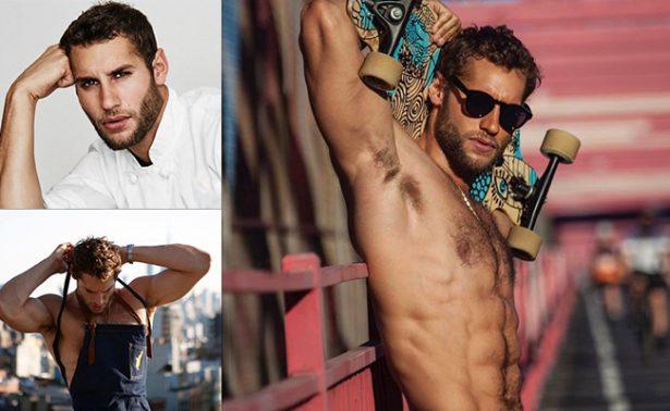 """El chef más guapo del mundo sirve """"desnudo al Instagram"""""""