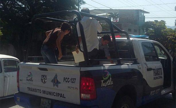 "Patrullas dan ""aventón"" ante paro en Chiapas"