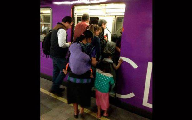 Mazahuas en el metro