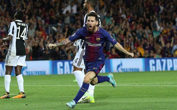 Fiesta de Messi y el Barcelona contra Juventus en Champions