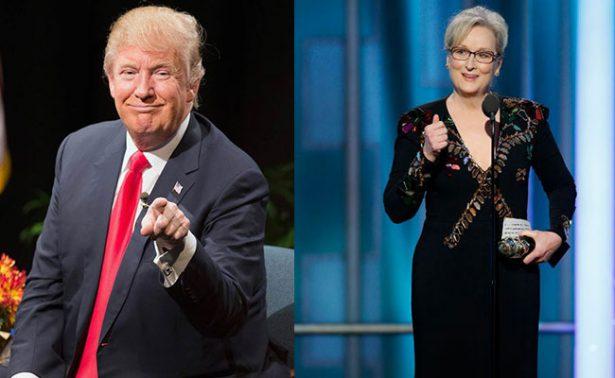 Responde la actriz Meryl Streep a ataques de Trump