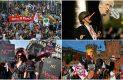 Miles de personas protestan en Bélgica contra Trump y la OTAN