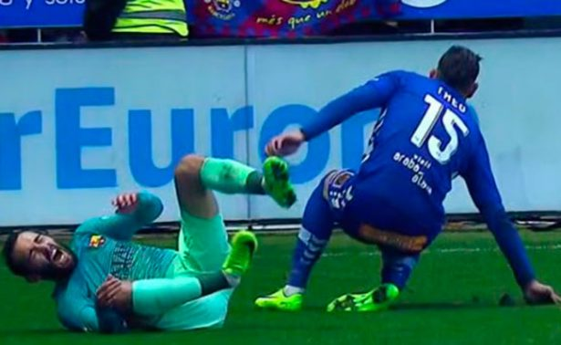 [Video] Theo pide perdón tras lesionar gravemente a Aleix Vidal