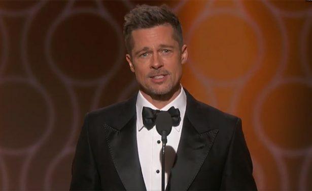 Brad Pitt reaparece en los Globos de Oro ¡sin Angelina!