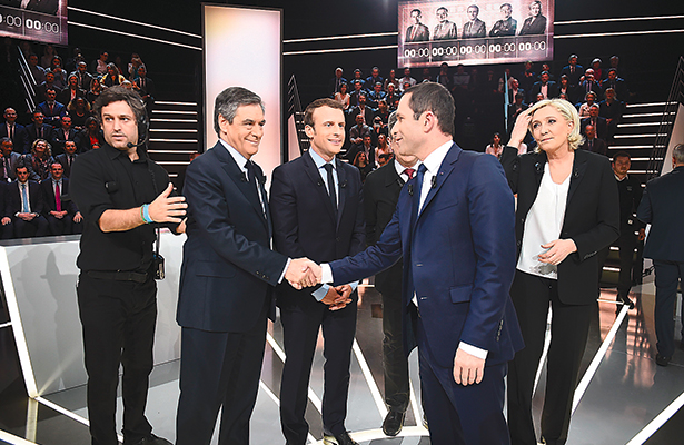 Inmigración y terrorismo ejes del primer debate presidencial en Francia