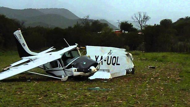 Cuatro muertos en desplome de avioneta