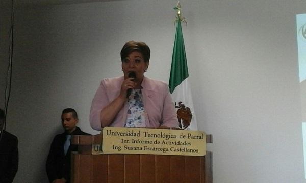 Realizan primer informe de actividades de la Universidad Tecnológica de Parral
