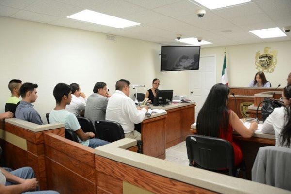 Realizan audiencia a tres detenidos por desmanes en Palacio de Gobierno