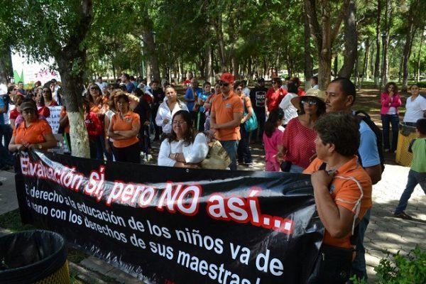 Alistan maestros manifestación contra Reforma Educativa