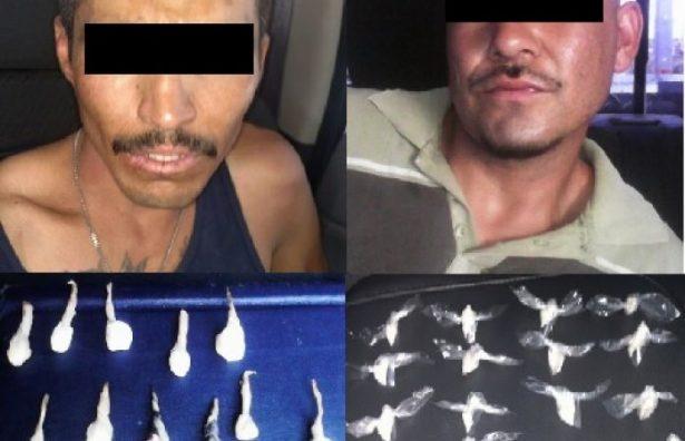 Detienen a tres con droga en diferentes sectores