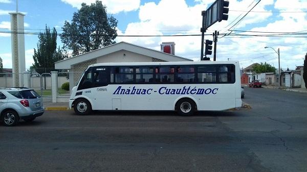 14 pesos le cuesta a los usuarios el transporte público en Anáhuac