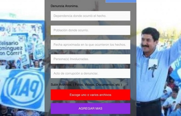 Pide Corral denunciar en sitio web irregularidades del Gobierno