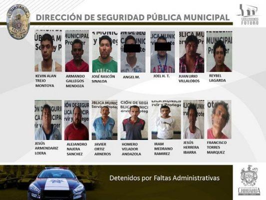 Detiene Policía Municipal a 24 personas en operativo de prevención