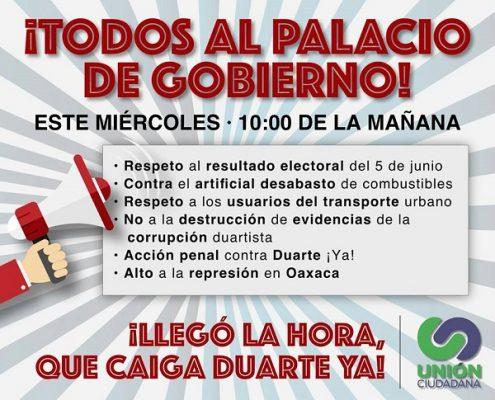 Opositores de César Duarte tomarán el día de hoy las instalaciones del Palacio de Gobierno