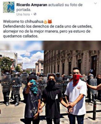 Jóvenes dicen haber defendido los derechos con manifestación violenta