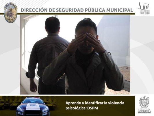 Informa DSPM como identificar violencia psicológica