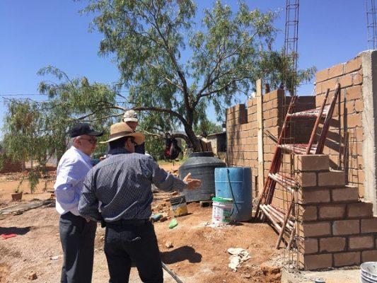 Supervisan apoyos para viviendas afectadas de mini-tornado