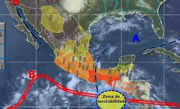 Pronostican lluvias para hoy en gran parte del estado