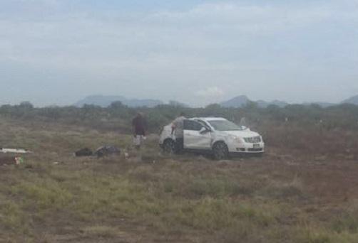 Muere uno y resultan dos lesionados en accidente en la carretera a Jiménez