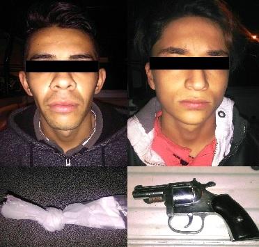 Detienen a dos con cocaína y con arma de fuego