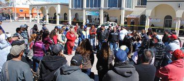 Sindicato del Municipio de Meoqui realizaron ayer paro de labores