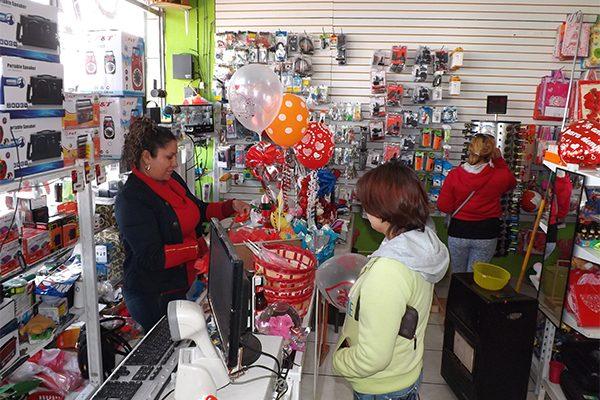Modesta ganancia del comercio local en San Valentín