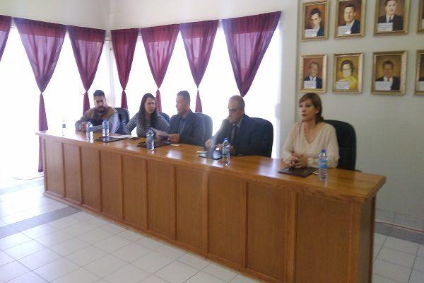 Firman convenio de colaboración Meoqui y CEDH