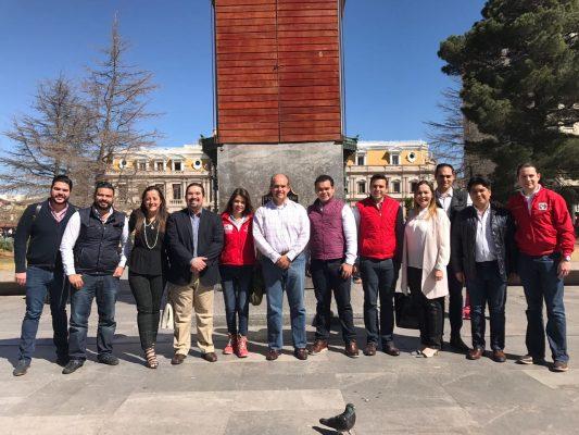 Se reune líder nacional de Red Jóvenes x México con representantes en el estado