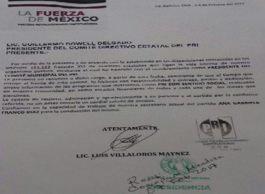 Inicia PRI su proceso de renovación; en Delicias se presentó la primera renuncia