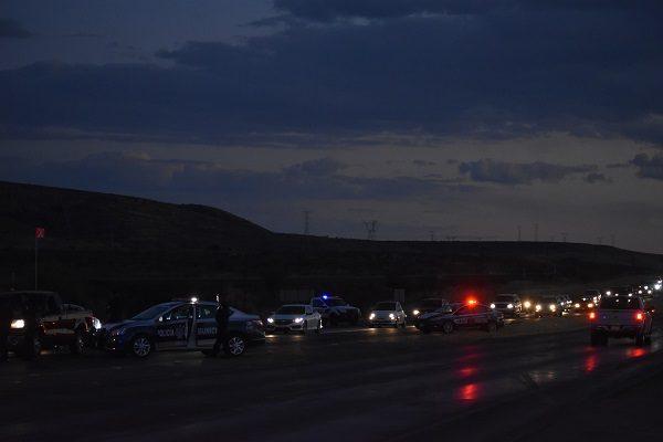 Realizan retén policiaco en la carretera Chihuahua- Cuauhtémoc