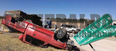 Cuatro lesionados en volcadura rumbo a Juárez