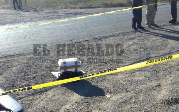 Dejan cabeza humana en la carretera a Cuauhtémoc