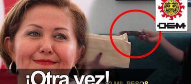 Nuevo video exhibe a Eva Cadena, militnate de MORENA recibiendo más dinero