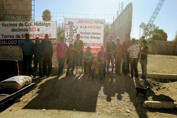 Retoman protesta colonos de la Hidalgo