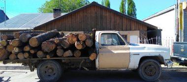 Asegura FGE Occidente vehículo con carga de madera