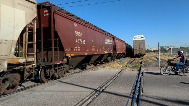Van seis accidentes contra el ferrocarril en el tramo que cruza por Delicias