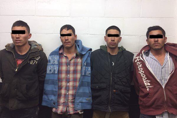 Arresta Policía Estatal a cuatro hombres armados