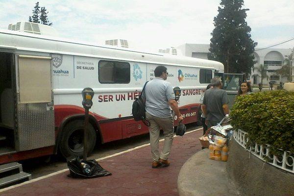Gran aceptación campaña de donación de sangre en Delicias
