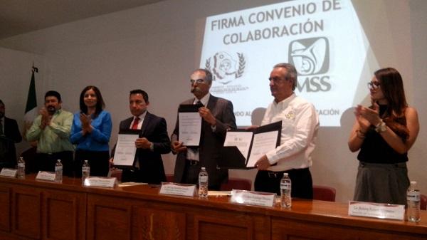 Firma IMSS y CEDH convenio en beneficio de los derechohabientes