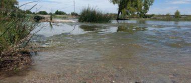Se une Río Conchos con antiguo vado en Julimes tras fuertes lluvias