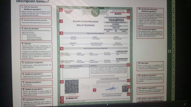 Registro Civil ofrece actas extemporáneas gratuitas