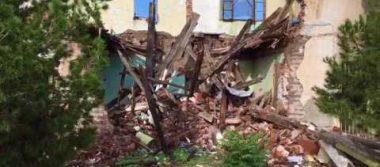 Derrumbe de casas antiguas a consecuencia de las lluvias