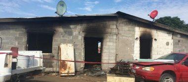 Muere familia calcinada al quemarse su casa en Ojinaga