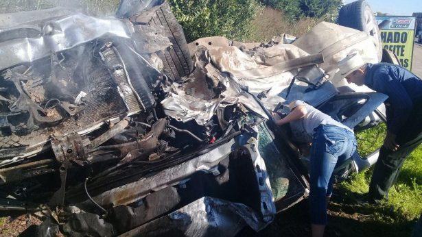 Muere menonita y argentino en aparatoso choque en el Corredor Comercial