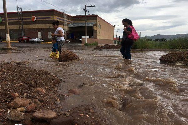 Se registran fuertes lluvias al norte de la cuidad