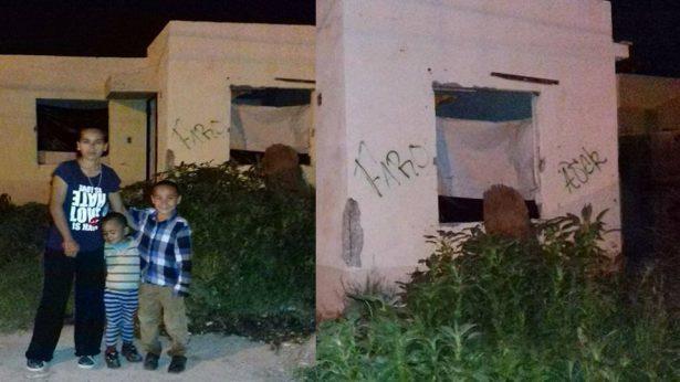 Familia vive en la nada, piden ayuda para armar casa en Camino Real