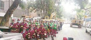 Envía Grupo México a 25 socorristas desde Santa Bárbara