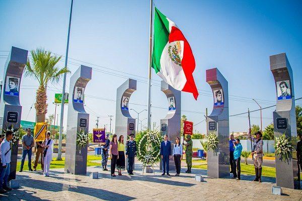 Recuerdan gesta heroica de los Niños Heroes en Delicias