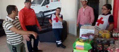 Concentran en plaza principal ayuda para damnificados en Cuauhtémoc